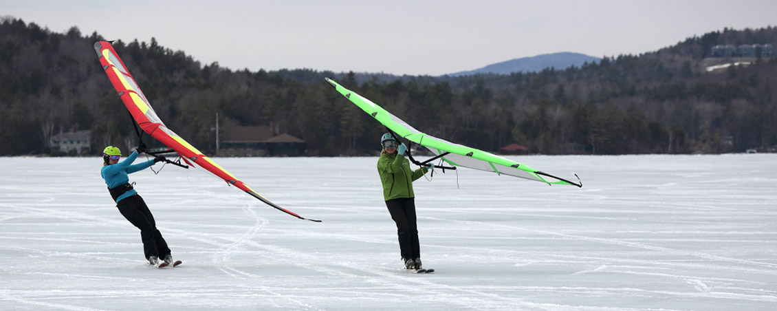 kitewing snow skiing